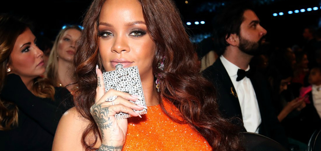 Rihanna Won the Grammys with Nothing but Her Reactions and a Flask (GIFs)