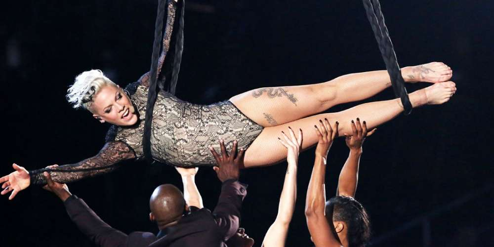 Pink Posts Epic Response to Lady Gaga's High-Flying Halftime Show