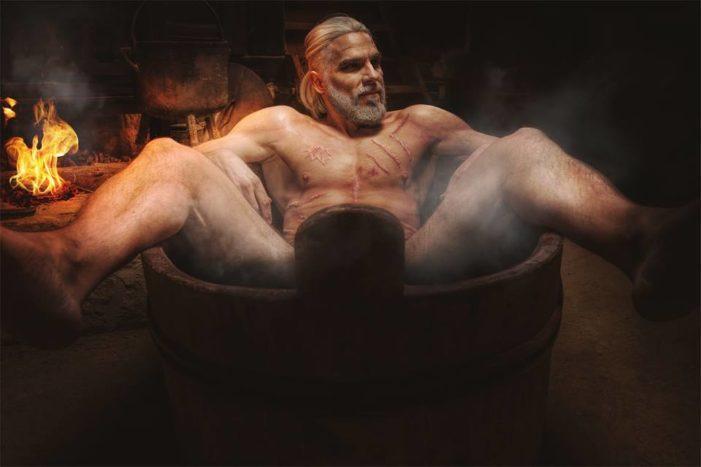 Sexy Bathtub Geralt Cosplay