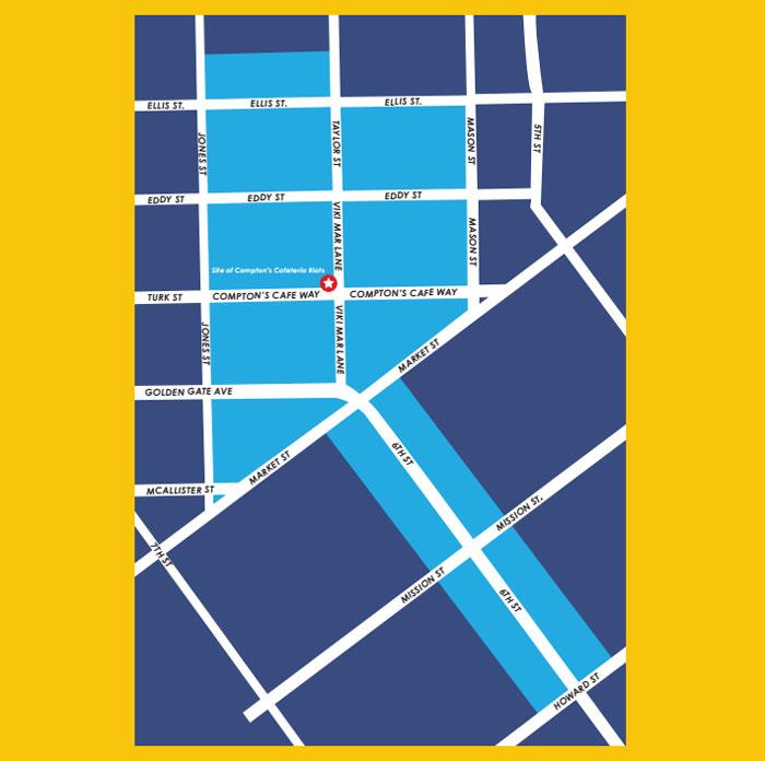 san francisco transgender district 1, map