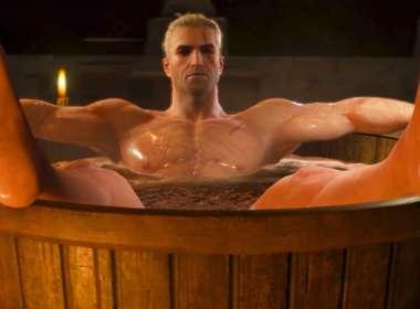 geralt bathtub statue henry cavill