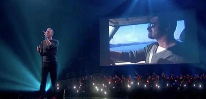 Chris Martin de Cold Play et les ex du groupe Wham! pour l'hommage à George Michael aux Brit Awards