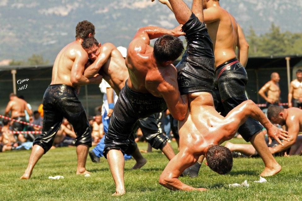 Turkish oil wrestling