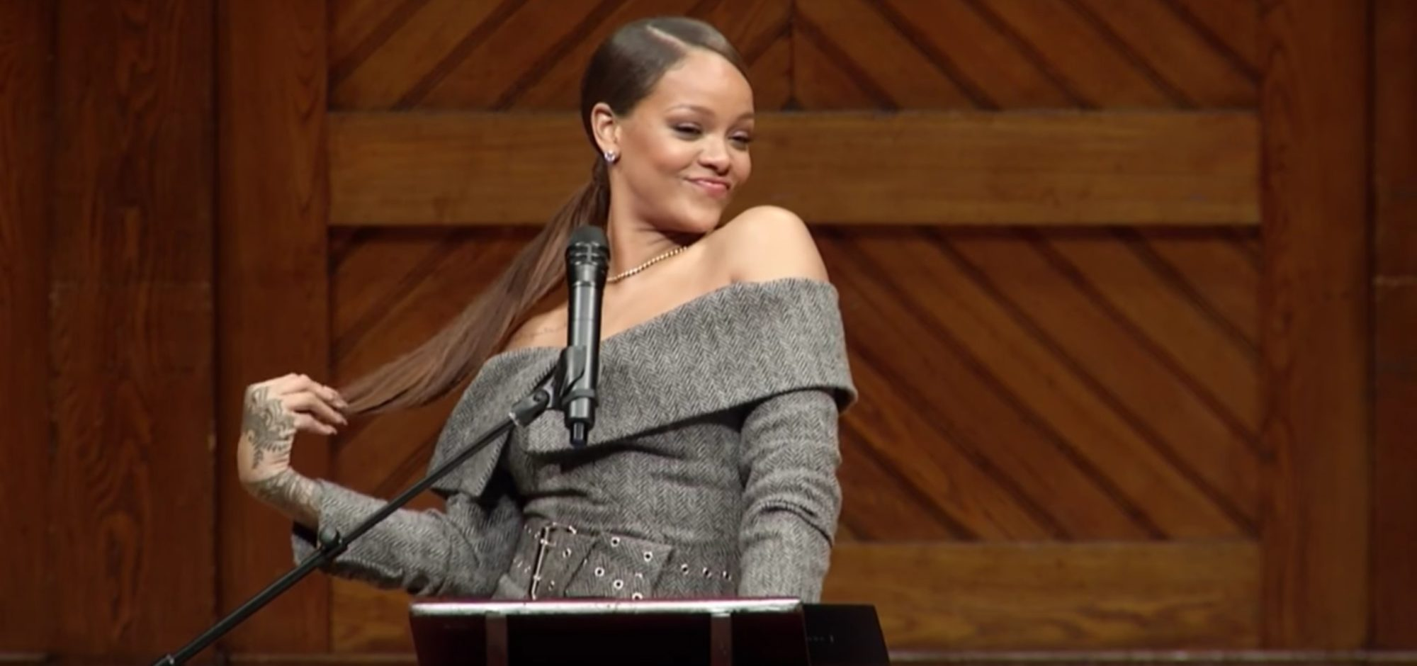 So, I Made it to Harvard: Watch Rihanna Accept Her Humanitarian of the Year Award (Video)