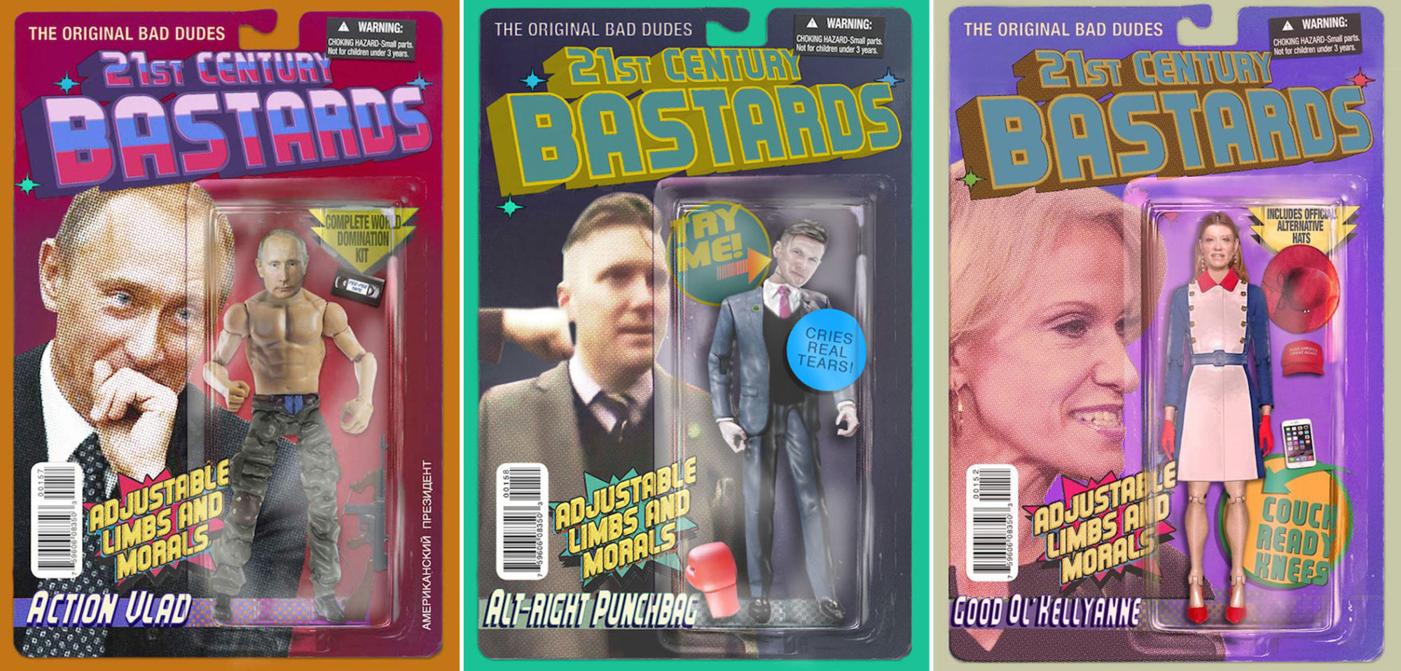 Trump Brexit 21st Century Bastards action figures