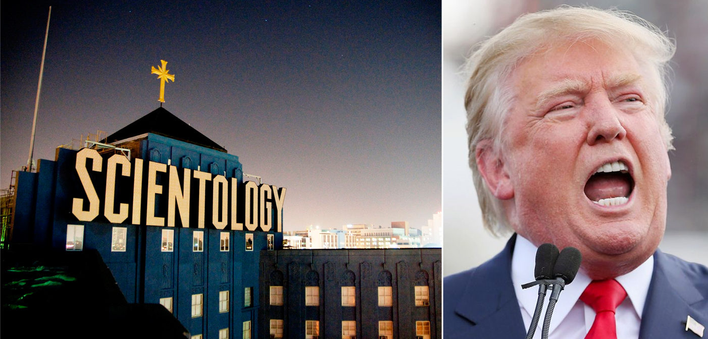 donald trump and scientology