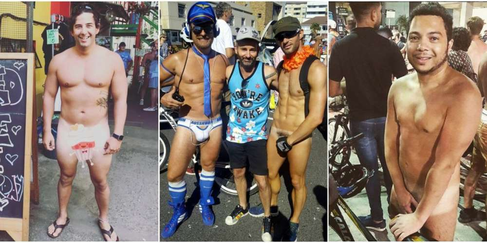 World Naked Bike Ride Gets Guys Butt-Naked on Two Wheels (NSFW)