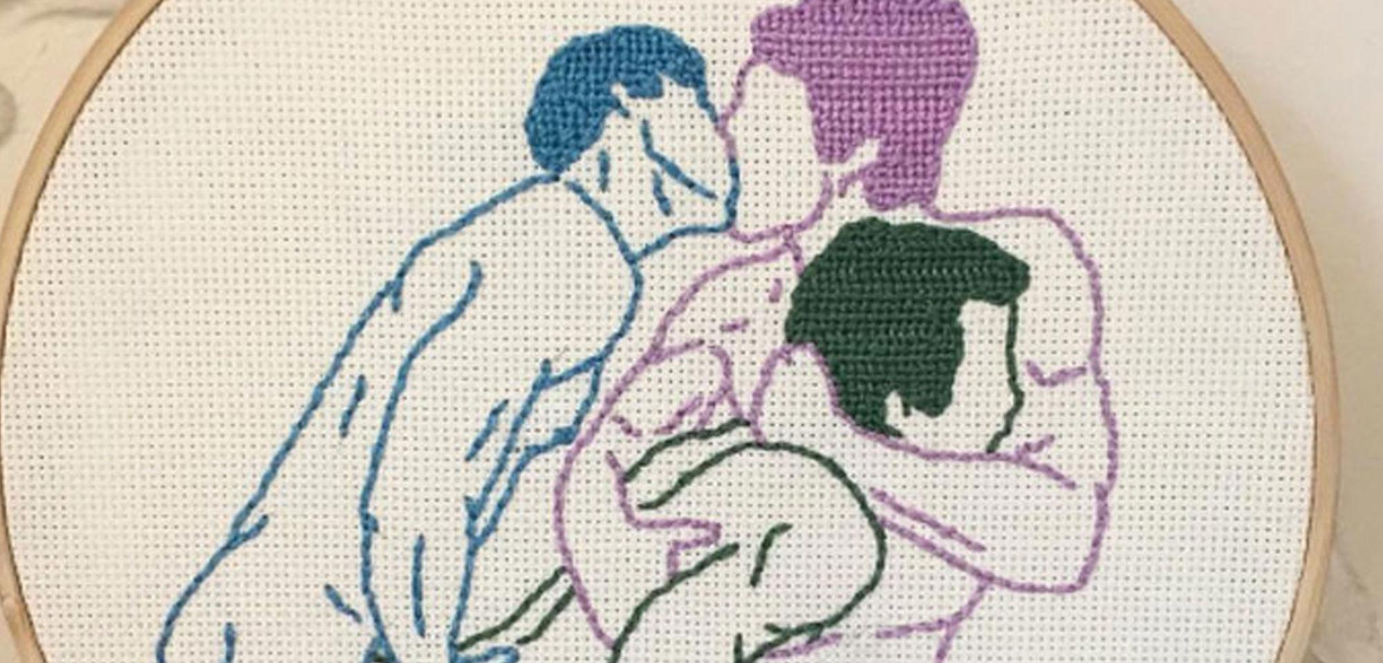 gay needlepoint 22, zachary nutman