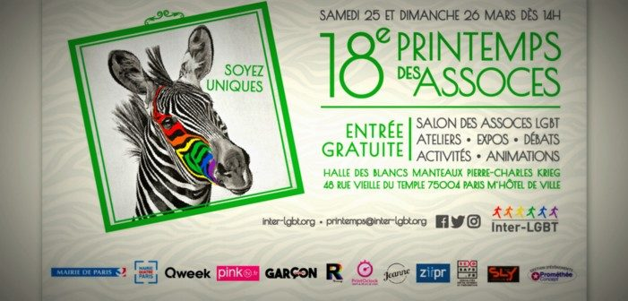 Plus de 100 associations LGBT fêtent le printemps les 25 et 26 mars à Paris