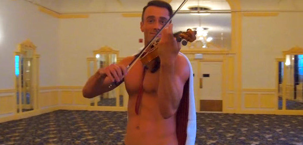 Watch This Shirtless Violinist Make 'Beauty and the Beast' Even Gayer Than You Thought Possible