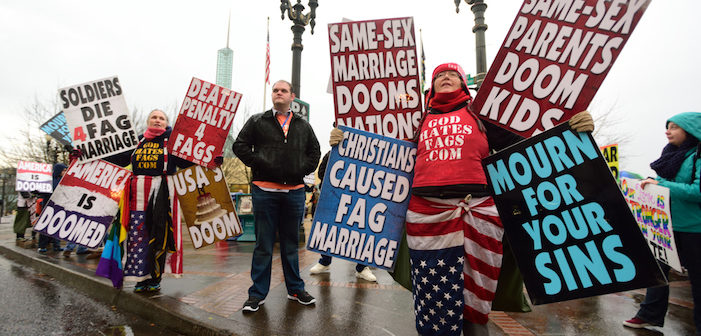 Study Says Homophobes Aren't Scared, Just Bigots