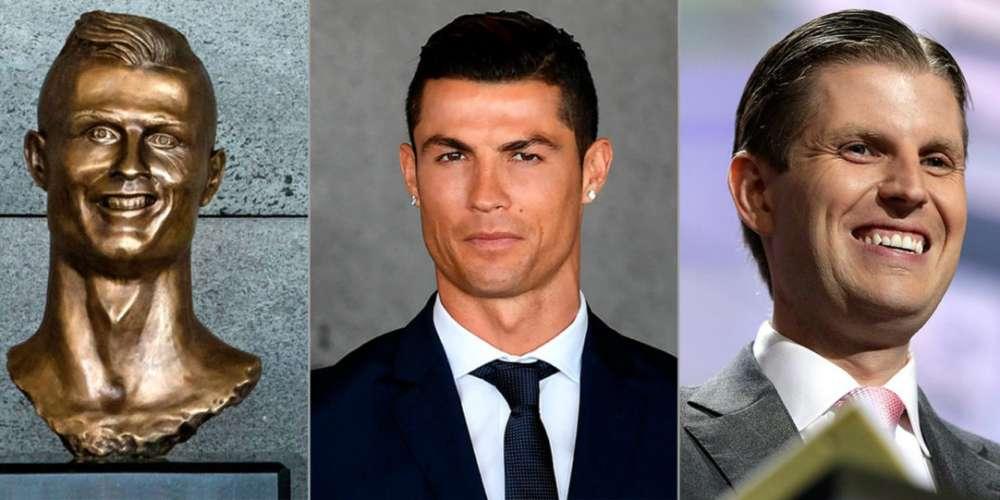 Cet horrible buste de Cristiano Ronaldo ressemblerait en fait à Eric Trump, le fils du président des Etats-Unis