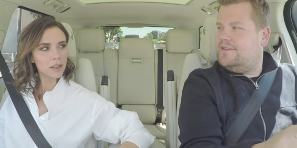 With a Twist, Victoria Beckham Spices Up Our Lives in Carpool Karaoke Segment (Video)