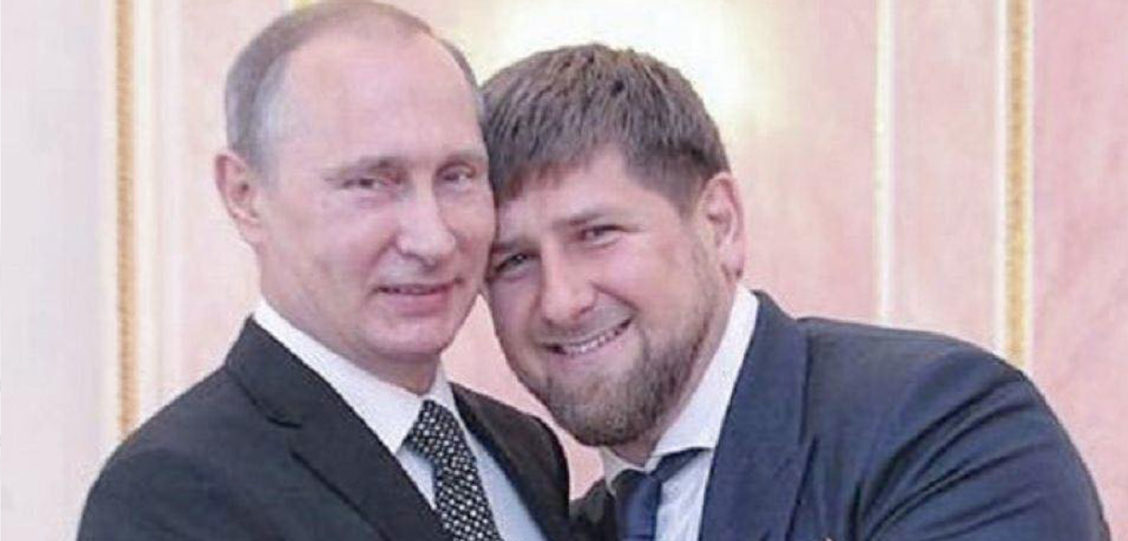 5 Pics of Chechnya's Homophobic President Being Really Affectionate with Men
