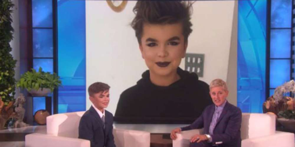 Ellen DeGeneres Talks to a 12-Year-Old Boy Who Was Beaten Up for Wearing Makeup (Video)