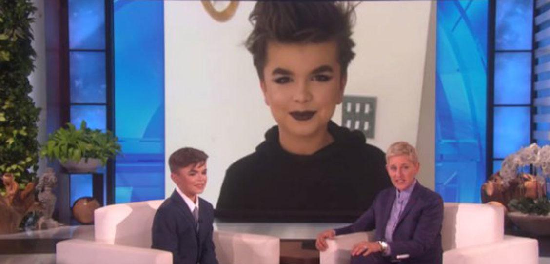 Ellen DeGeneres Conversa com Menino de 12 Anos que Apanhou Por Usar Maquiagem (Vídeo)