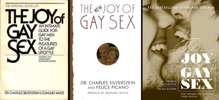 """The 1977, 1992 and 2003 editions of """"The Joy of Gay Sex"""""""