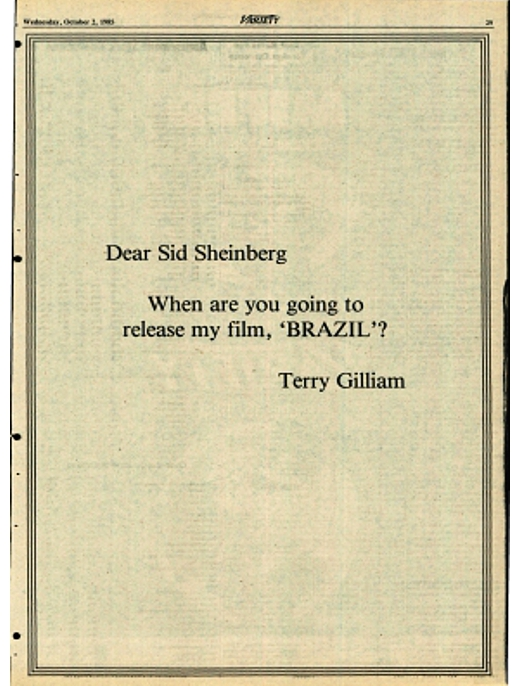 terry gilliam brazil backstory ad