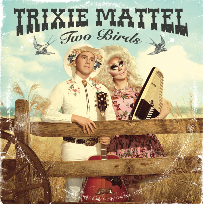 trixie mattel folk music album cover