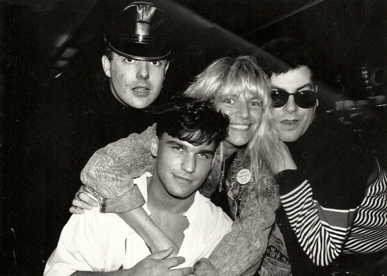 Michael Musto with Chip, Robin and Joey Stefano