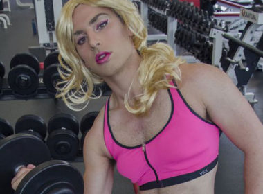 genderqueer athlete school gym photos 01