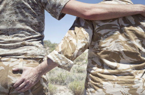 homoerotic military rituals