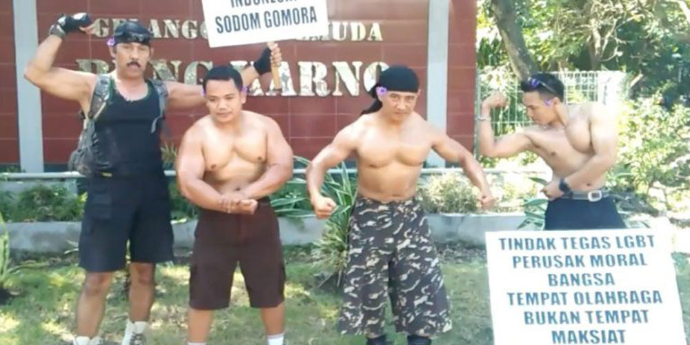 indonesia bodybuilders protest