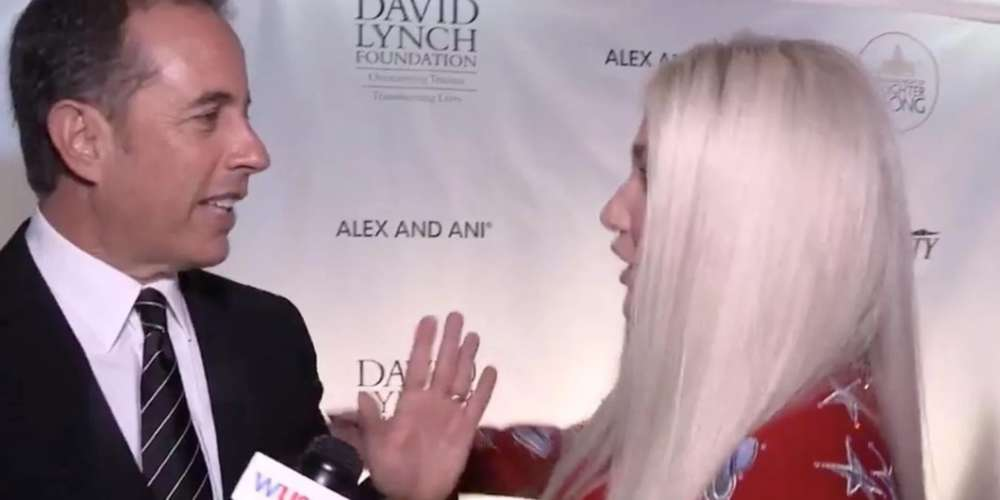 Jerry Seinfeld Awkwardly Denies Kesha's Request for a Hug (Video)