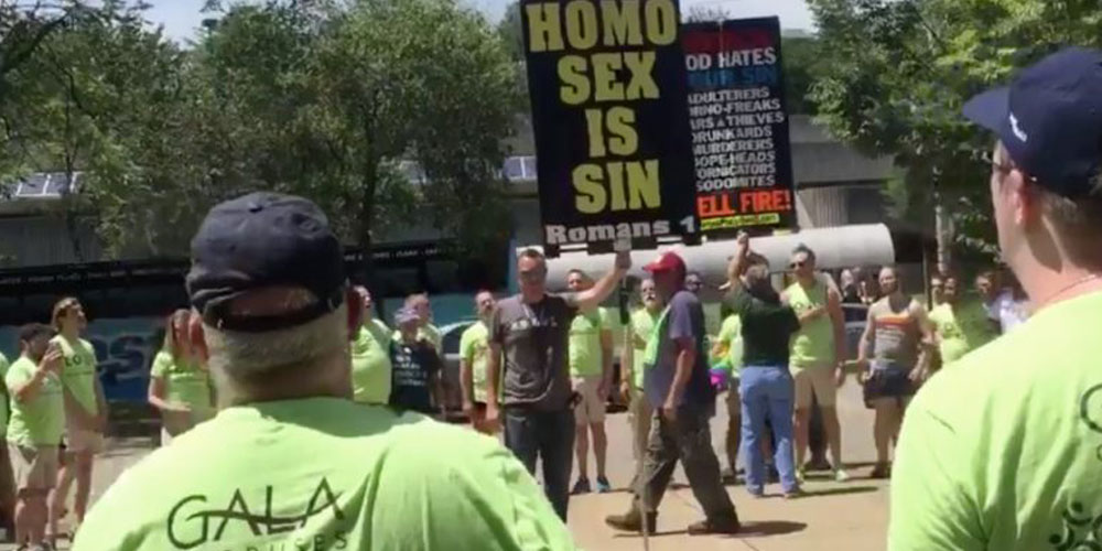 Gay Men's Chorus Sings Over Anti-LGBTQ Protestors at Knoxville Pride (Video)