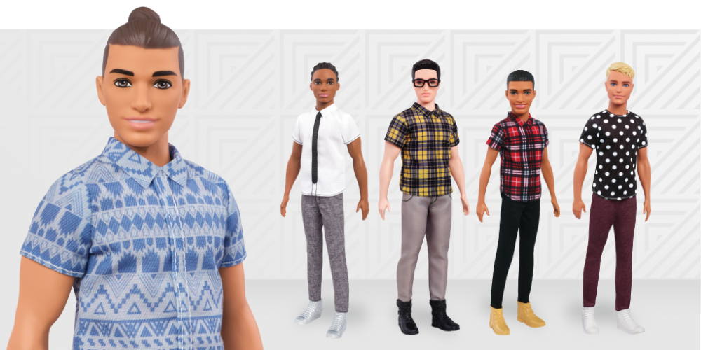 The New Line of Ken Dolls Features Dad Bods and Man Buns
