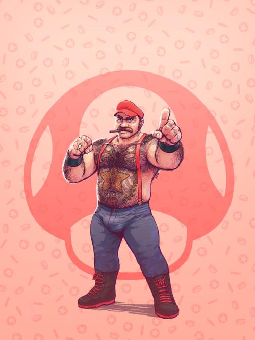 super smash bros. bears mario