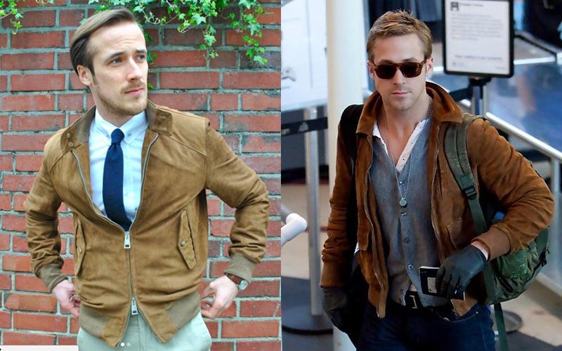 Ryan Gosling's German Doppelgänger Brown Jacket