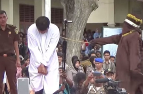 Indonesia caning gay