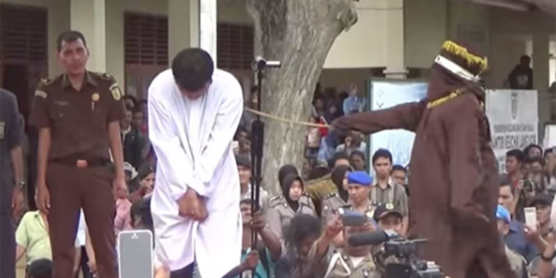 Indonesia caning gay gay life in Indonesia