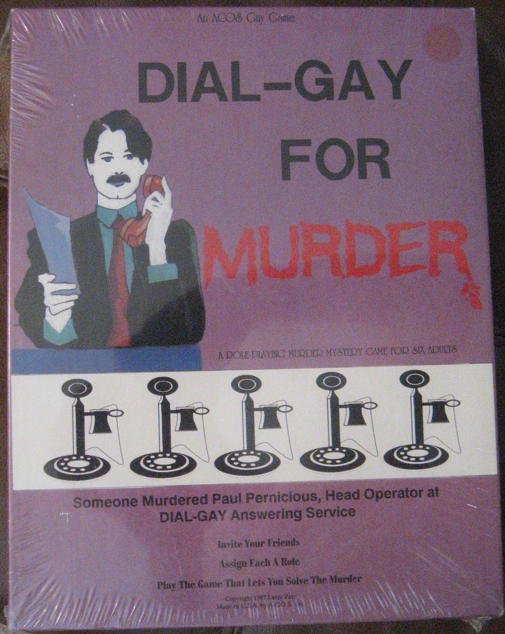 gay board games dial gay for murder