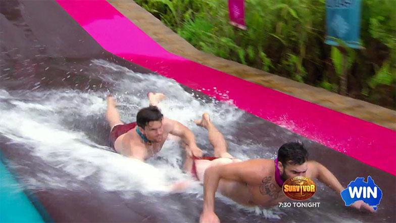 Australia Survivor nude wrestling 02
