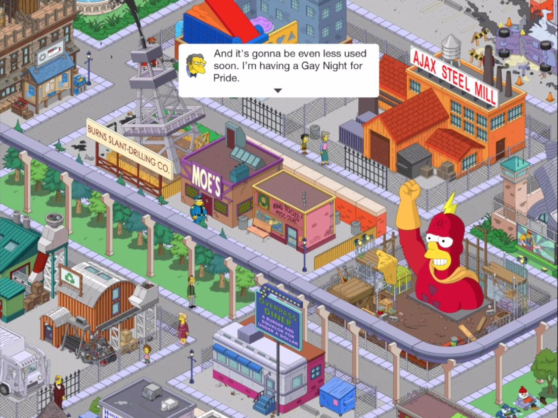 simpsons game pride jt leroy screenshot