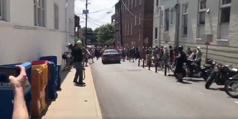 Horrifying Video Shows Car Driving Into the Crowd of 'Unite the Right' Counter Protestors
