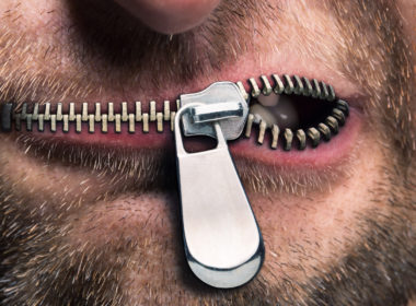 Russian Censorship ZIpped Mouth