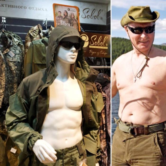 Putin Shirtless Challenge 02