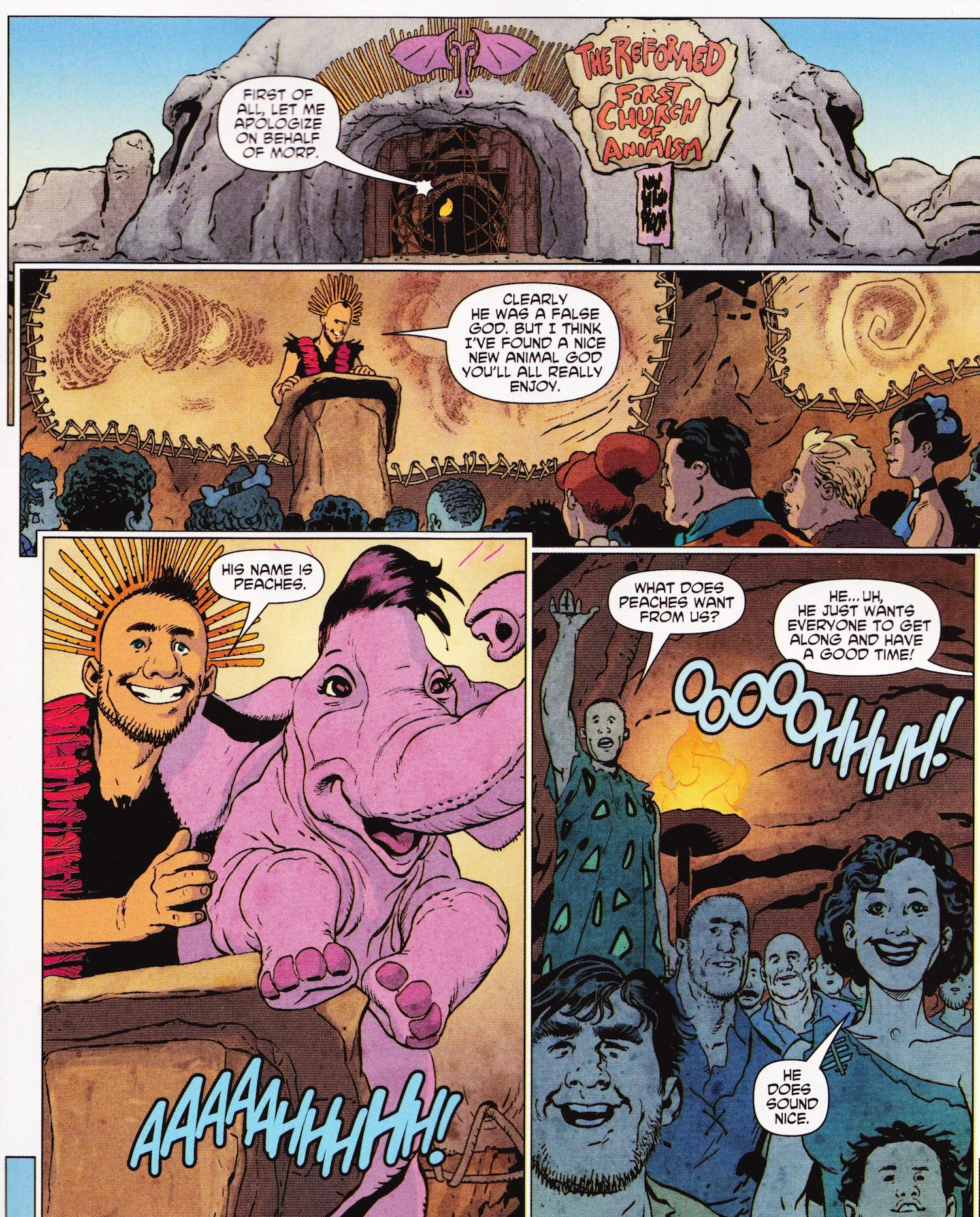 flintstones comic religion