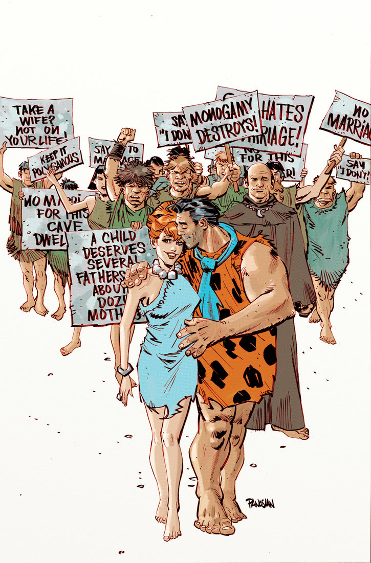flintstones comic marriage