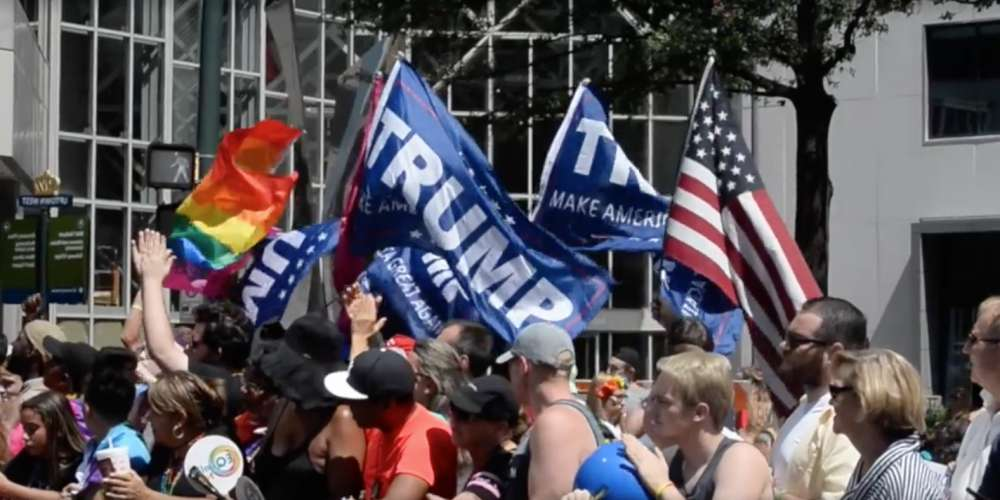 Roughly a Dozen 'Gays for Trump' Protestors Showed Up at Charlotte Pride