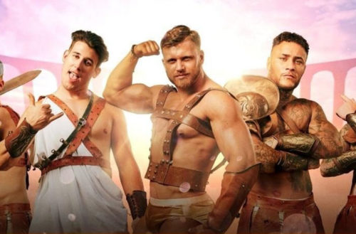 Hairy men roman gladiator