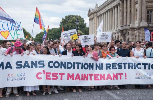 Marche des fiertés Paris 2017. PMA.