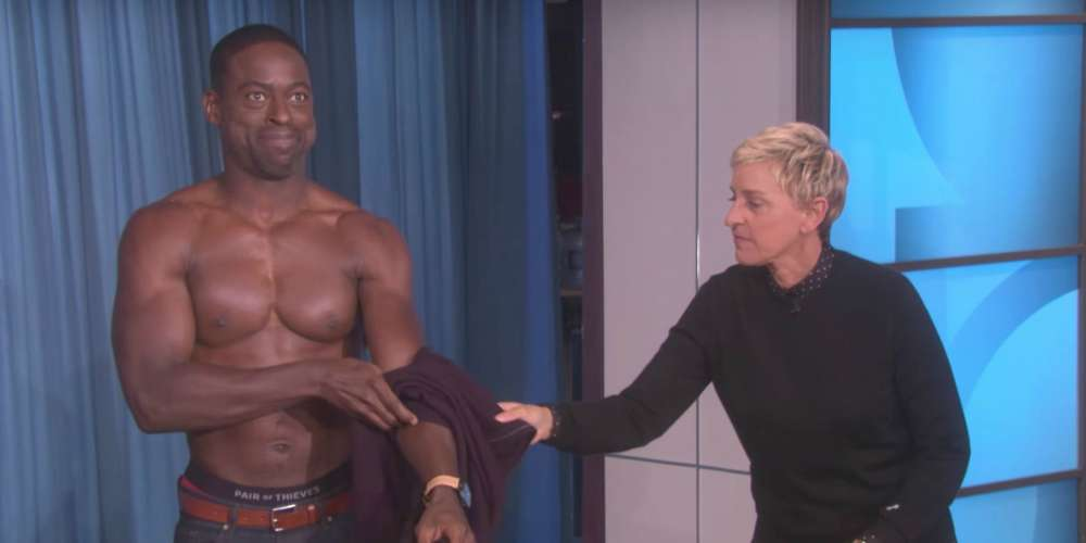 Sterling K. Brown Is the Latest 'This Is Us' Hunk to Strip Down on 'Ellen'