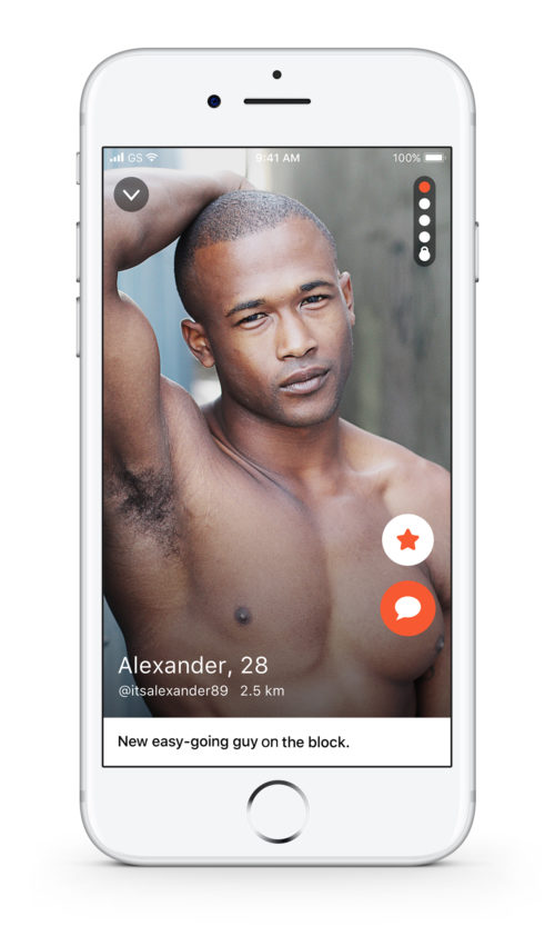gay app profile screenshot