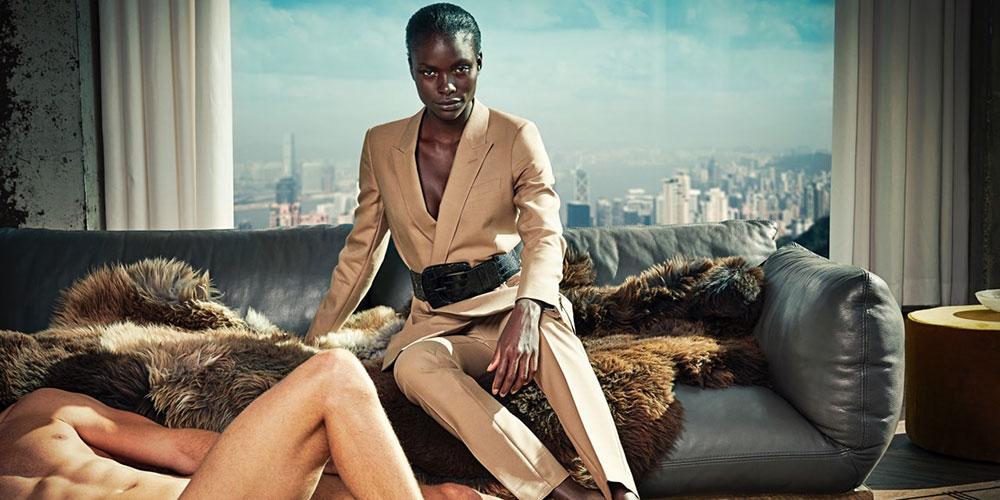 Anúncios de ternos femininos bombam com fotos de homens nus