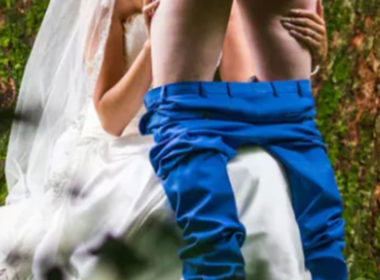 wedding blowjob photo