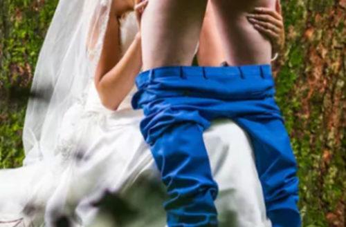 wedding blowjob photo